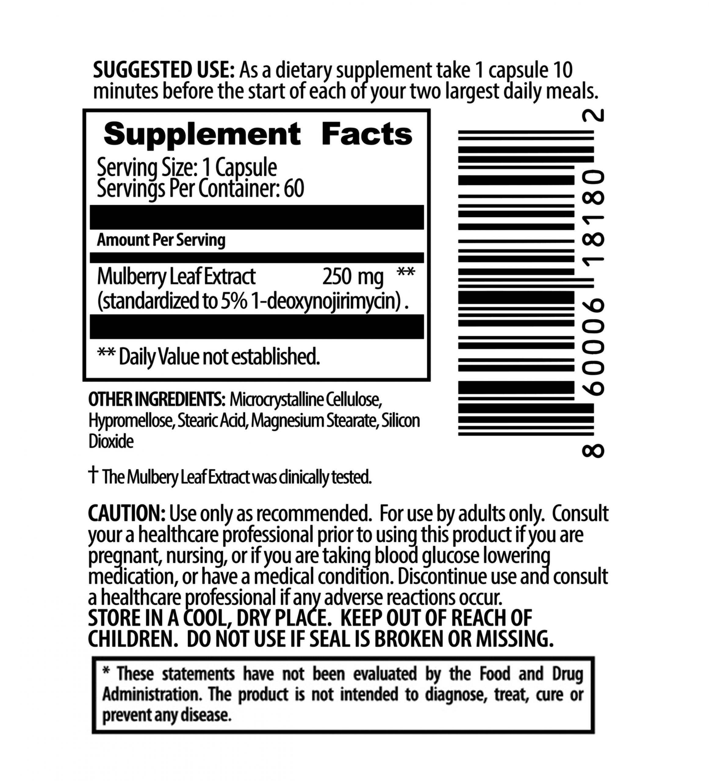StayLo Low Glucose Low Insulin Ingredients